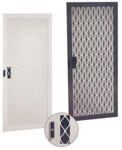 Aluminum security sliding screen door