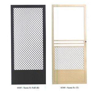 White Aluminum Security Door - Screen Door in Harbor City, CA