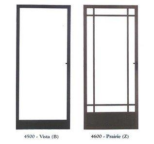 Brown Aluminum Security Door - Screen Door in Harbor City, CA