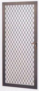 Aluminum Security Screen Door with Lock