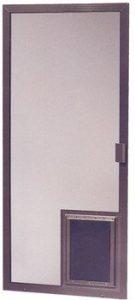 Century Sliding Screen Door with Pet Door Installed