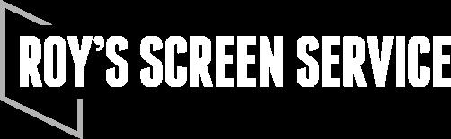 Roy's Screen Service White Logo